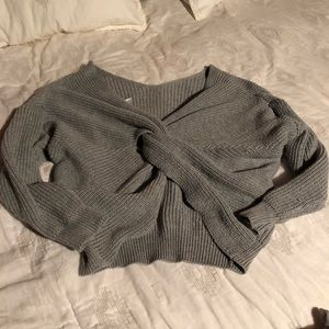 Sweaters - Slouchy Knot back sweater